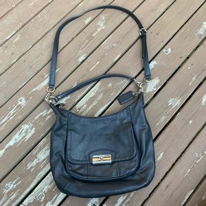 Coach bag black leather